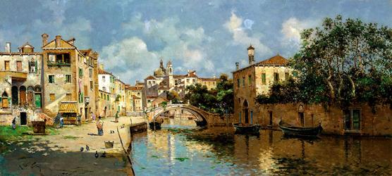 Canal de Venecia. Antonio María Reyna Manescau