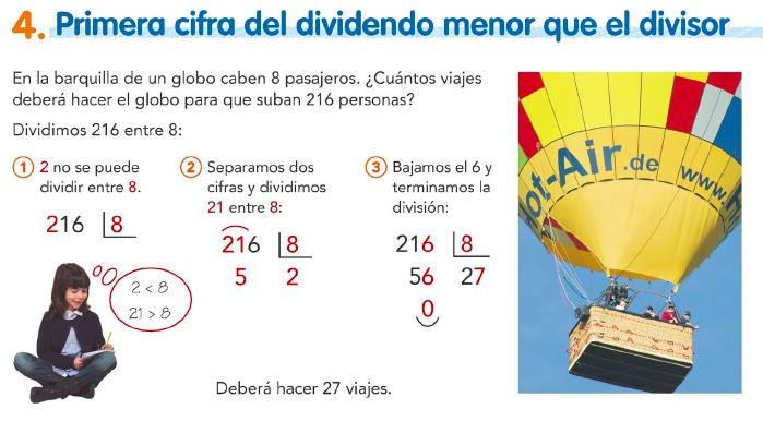 8.4. Primera cifra del dividendo menor que el divisor